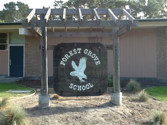 forest grove school sign